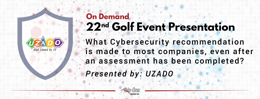 What Cybersecurity recommendation is made to most companies banner-01