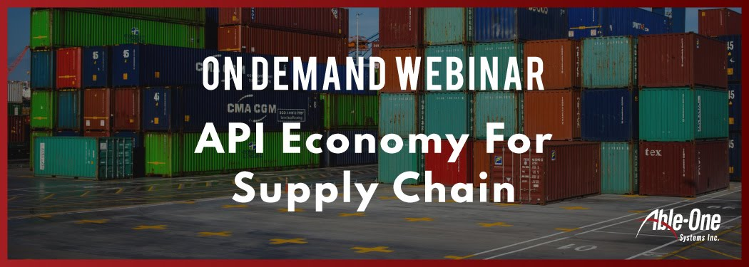 new API Economy For improved supply chain banner