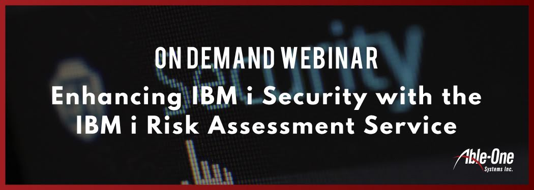new Enhancing IBM i Security with the IBM i Risk Assessment Service banner