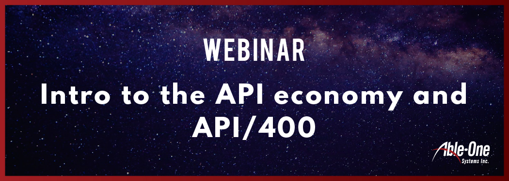 new Intro to the API economy and API400