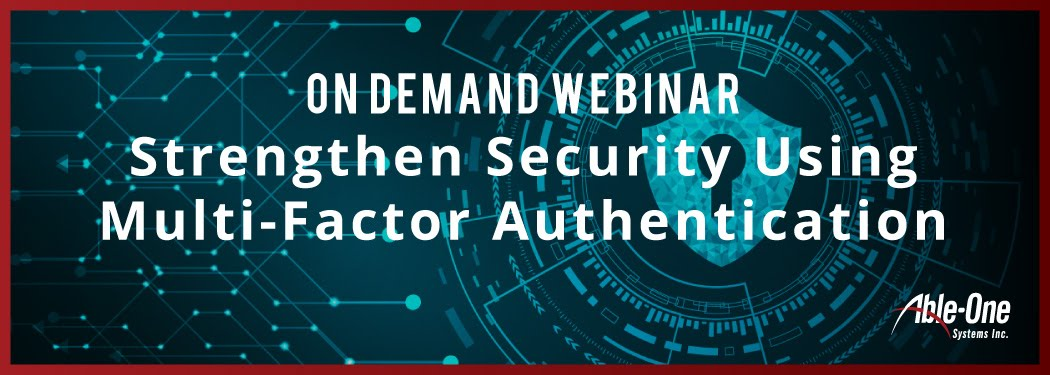 new Strengthen Security Using multi-factor authentication banner