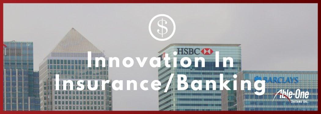 new innovation in insurance - banking banner